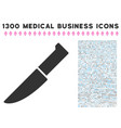 knife icon with 1300 medical business icons vector image