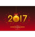 New Year 2017 poster banner abstract template vector image