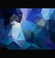 Polygon background dark sky blue color vector image