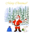 post card Merry Christmas of vector image