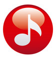 red music emblem icon vector image