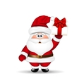 Santa Claus with Christmas gift in hand vector image