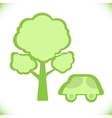 car near a tree icon vector image