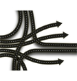 Stylized road junction Highway with a marking 3D vector image
