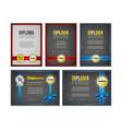diploma certificate design set vector image