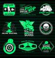 roller skating emblems vector image
