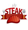 steak badge vector image vector image