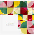 modern geometrical abstract background circles vector image vector image