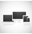 laptop tablet monitor and phone vector image