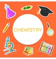 Chemistry backdrop vector image