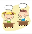 kids in classroom sitting at the desks vector image