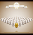 golden egg concept background vector image