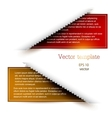Colorful bookmarks for text vector image