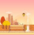 autumn city park panorama vector image