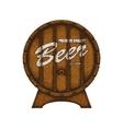 Beer label in form wooden barrel vector image