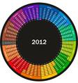 color calendar vector image