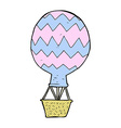 comic cartoon hot air balloon vector image