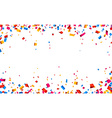 Confetti celebration frame background vector image