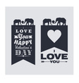I love you and Happy Valentines Day vector image