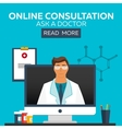 Online doctor Online consultation Ask doctor vector image