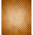 Scratched cardboard with polka dot pattern vector image