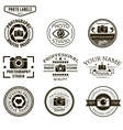set of photography logo templates Photo vector image