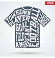 Sports symbol shirt of American football with vector image