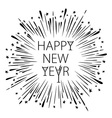 Happy New Year Card with Starburst snowflake vector image