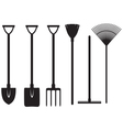 Gardening tools set vector