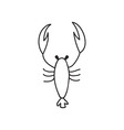 Doodle lobster animal icon vector image