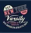new york varsity brooklyn athletic vector image