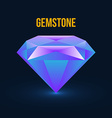 Gemstone isolated on dark background vector image