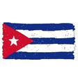 Flag of Cuba handmade vector image