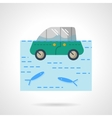 Insurance car flat color design icon vector image