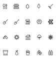 Agriculture Line Icons 4 vector image