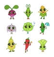 Vegetables Cartoon Characters Collection vector image