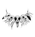 Raven Sugar Mexican Skull Raven Skull vector image