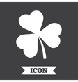 Clover with three leaves sign StPatrick symbol vector image
