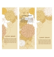 Banners with floral beige elements vector image