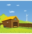Cartoon farm background vector image