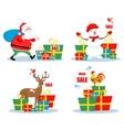 Christmas sale characters vector image