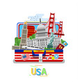 concept of travel or studying english vector image
