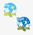 day and night sun - moon symbol vector image