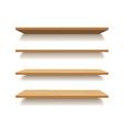 empty wooden shelf isolated background vector image
