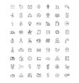 flat energy icons vector image