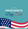 happy presidents day sale handwritten phrase in vector image