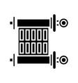 scroll - torah icon black vector image