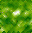 seamless green pattern of squares vector image