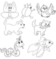 Set of baby toys vector image