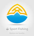 Sport fishing business icon vector image